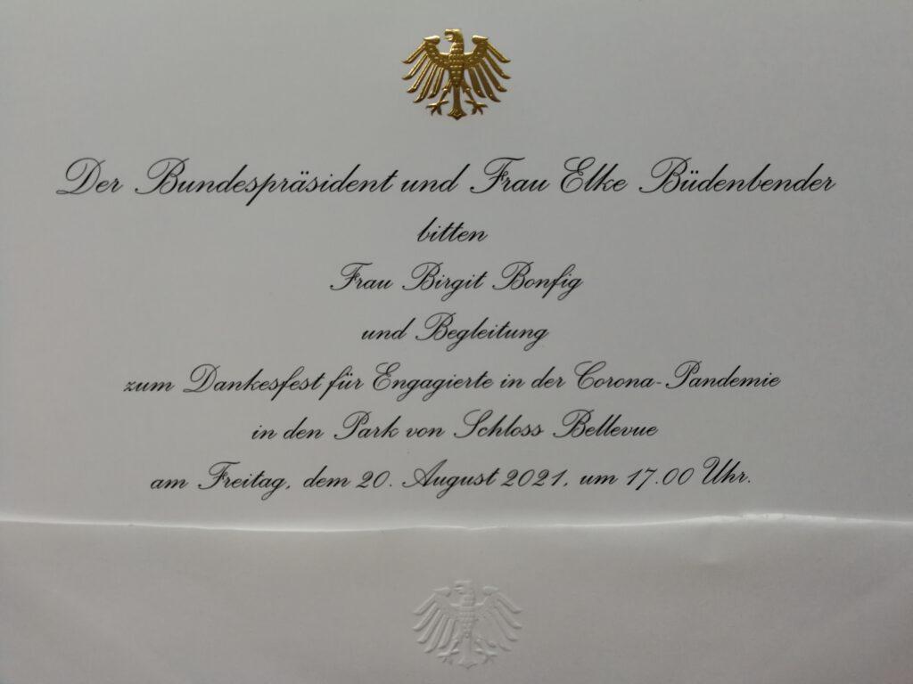 Bundespräsident Einladung